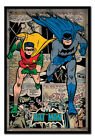 Framed Batman & Robin Comic Montage Poster Ready To Hang