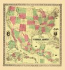 Old Railroad Map - United States, Territories, Mexico, Ca...