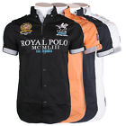 Geographical Norway Zack Herren Freizeit Hemd Royal Polo Shirt
