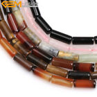 "Column 6x16mm Gemstone DIY Jewelry Making Strand 15"" 6 Mateirals Pick Gem-inside"