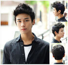 3 Color Men Handsome Sunshine Boys' Short Layers Natural Hair Cosplay Wig Cap
