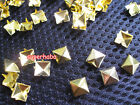 Golden Pyramid Spike Rivets Studs Punk Rock Spots Bag Shoes Leather Crafts