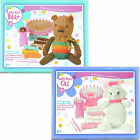 Childrens Easy Knit Loom Set Stuffed Soft Toy Teddy Bear Cat Knitting Craft Kit