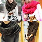 Womens Warmer Shiny Oversized Neck Circle Cowl Scarf Shawl Wrap AU SELLER sc752