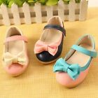 Baby Girl Bowknot PU Leather Skidproof Flat Toddlers Summer Soft Mary Jane Shoes