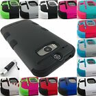 FOR HTC ONE M8 2014 EDITION SHOCK PROOF TUFF ARMOR DUAL LAYER CASE COVER+STYLUS