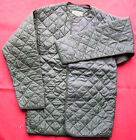 LINER JACKET EXTREME COLD WEATHER BRITISH ARMY/RAF GREEN QUILTED VELCRO *NEW*