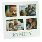 Friends or Family White Multi Photo Frame - Holds 4 Photos