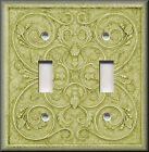 Switch Plates And Outlets - French Pattern Image - Avocado Green - Home Decor