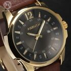 AGENTX Mens Hot Sale 4 Colors Date Leather Sport Quartz Wrist Watch