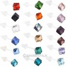 10 Pairs Candy Colors Square Diamond Glass Crystal Stud Earrings Simple Fashion