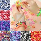 200pcs Tie Dye Rubber Loom Bands 15 Clips 1 Hook For Rainbow Refill Wholesale