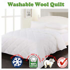 450GSM Machine Washable WOOL Quilt / Duvet- SINGLE King Single Double Queen King