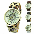 Women Mystic Dress Watch Quartz Watches Faux Leather Feather Geneva Watch