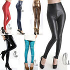 Sexy High Waist Leather Look Stretch Tights pants 20+ Colours AU SELLER P121
