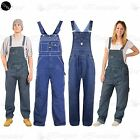 Mens Work Overall Loose Fit Womens Ladies Jeans Pinafore Denim Jumpsuit Dungaree
