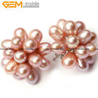 5-6mmx7-8mm Freshwater Pearl Beads Silver Stud Earrings
