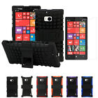 Armor Rugged Grip Hybrid Hard Stand Cover Case+LCD Film For Nokia Lumia Icon 929