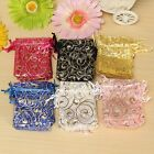 100Pcs Eyelash Organza Wedding Party Favour Gift Candy Jewellery Pouches Bags