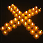 New Led Battery Operated Flameless Tealight Candles Warm White Party Wedding