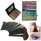 New 120/88 Colors Eye Shadow Palette Professional Box&32 Makeup Brushes Kits Set