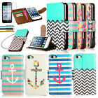 Wallet Pouch PU Leather Flip Case Cover For iPod Touch 5 5th Gen +Protector