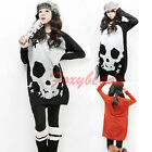 2014 HOT Korean Cool Skull Loose Long Sleeve Knitted Sweater Casual Top Blouse