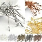 30g New Plated Silver Gold Head Pin/Eye Pin/Ball Pin Finding 21 Gauge 14-70mm