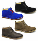 Hush Puppies DESERT II Mens Leather Suede Wide Lace Up Casual Comfy Ankle Boots