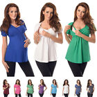 New Comfortable 2in1 Maternity and Nursing Top Tunic Size 8 10 12 14 16 18 7042