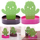 Women Cute Green Cactus Earring Necklace Jewelry Display Stand Holder Organizer