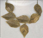 occident style exaggerate multilayer metal big leaves charm Clavicle necklace