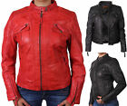 WOMENS LADIES LEATHER BIKER JACKET MOTORCYCLE JACKET REAL LEATHER NEW WITH TAGS