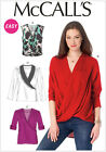 McCall's 6991 Paper Sewing Pattern to MAKE Mock Wrap Pullover Tops & Blouse