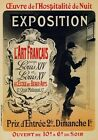 AP160 Vintage French Art Exposition Gallery Advertisement Poster A1/A2/A3/A4