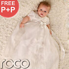 Baby Girls Ivory Dress Traditional Baptism Gown Christening Dresses 0 - 12m