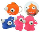 Small Squeeze Toy Eye Popping Character Key Chain Ring Stress Relief