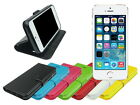 Slim Leather Wallet Case Folding Stand with Soft TPU for Apple iPhone 5S 5