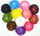 12pcs wholesale camellia Flower Clip Crochet Girls Baby Lady Headband Hair Bow