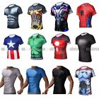 Transformers Iron Man Captain America Men Compression Shirt Top Short Sleeve