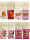 DISNEY Baby Girls Tights Cotton Rich Size 6-9 Mths & 12-18 Mths Licensed Product