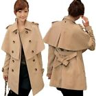 Trench Jacket Coat Poncho Pea Womens Sz XS-L Cashmere Blends AU sz 6-14