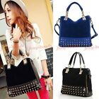 Women Handbag  Synthetic Leather Stud Spike Shoulder Bag Totes Purse Hobo