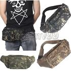 Men Canvas Army Camo Pack Pocket Pouch Purse Belt Camping Waist Bag Bum Military