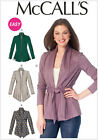 McCall's 6996 Sewing Pattern to MAKE Unlined Stretch Knit Jackets / Cardigan