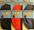 Fold up Travel Dog Canvas Bowl For food & Water Red, Blue or Black Free Postage