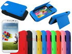Hybrid Hard Case with ID Credit Card Slot Stand for Samsung Galaxy S4 S IV