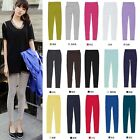 Womens lady colors cotton skinny tights Trousers Stretch leggings pencil pants