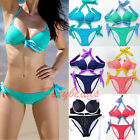 2014 Fashion Womens Ladies Push Up Padded Bikini Set Swimsuit Swimwear Bathing