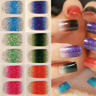 POP 12X Glitters Foils Nail Stickers Decal Manicure Tips DIY Decoration Nails
